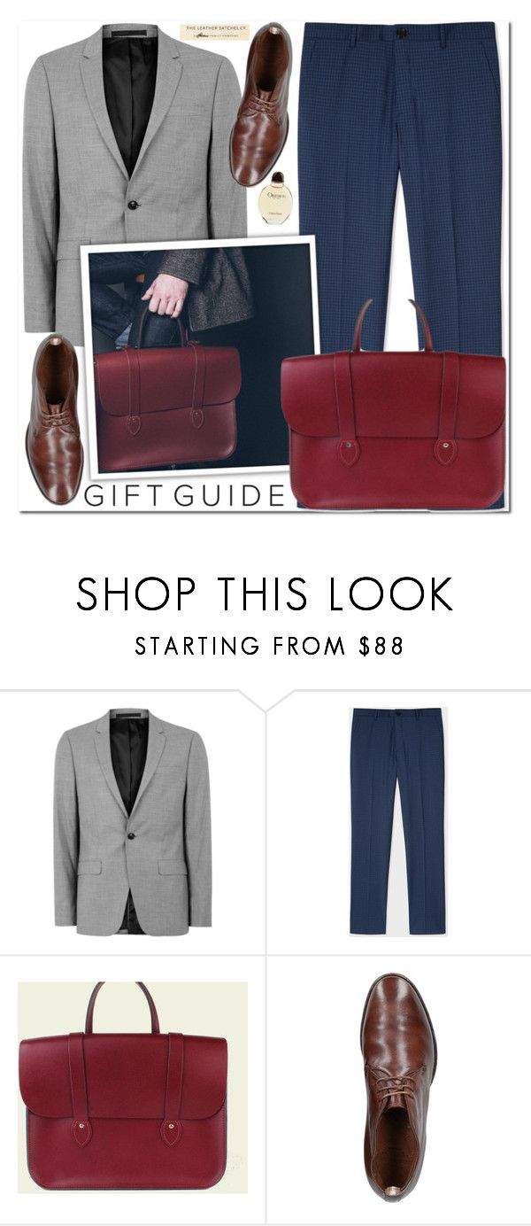 """Gift guide-Leathersatchel"" by leathersatchel ❤ liked on Polyvore featuring Topman, PS Paul Smith, Officine Creative, Calvin Klein, men's fashion and menswear"