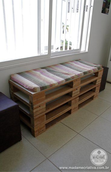 banco-de-palletsPallets Benches, Bancos De Pallets, Wood Pallets, Pallets De, Diy Crafty, Pallets Projects