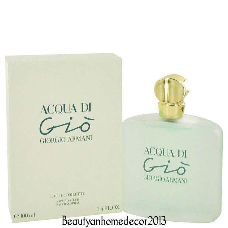 Acqua Di Gio Perfume by Giorgio Armani 3.3 / 3.4 oz / 100 ml EDT New In Box #GiorgioArmani
