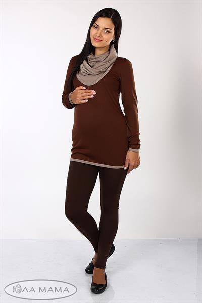 Теплые коричневые джинсы
