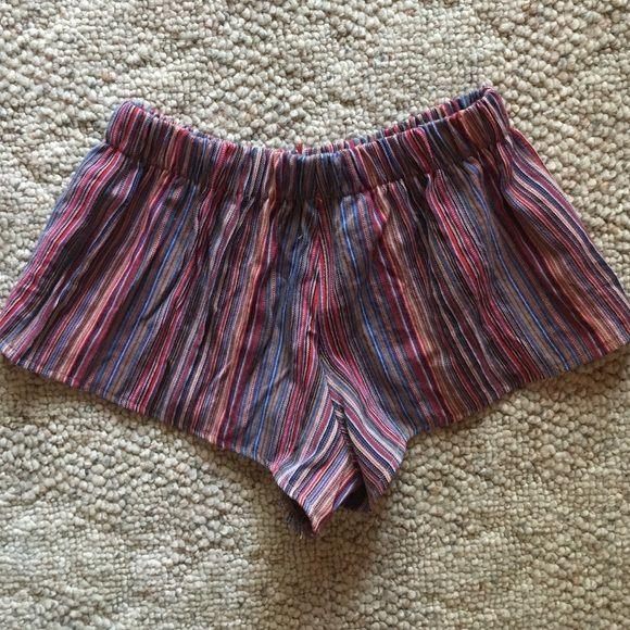 Brandy Melville Shorts - Brandy Melville Mexican Print Striped Shorts