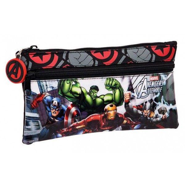 Marvel Avengers Penalhus med Captain America, Hulk, Ironman og Thor