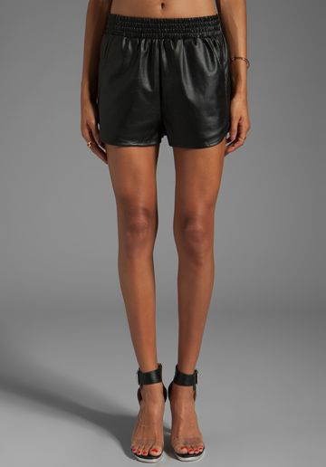 LOVERS + FRIENDS for REVOLVE Soccer Shorts in Black at Revolve Clothing - $98