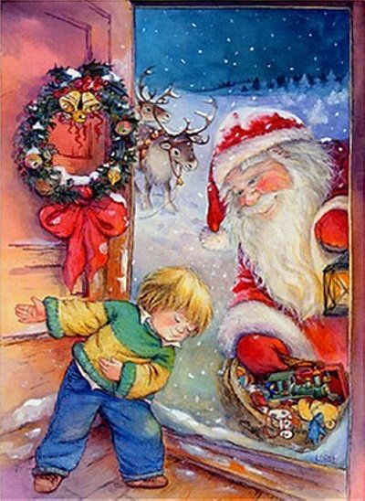 "lisa martin ...""come on in Santa ~ right this way."""