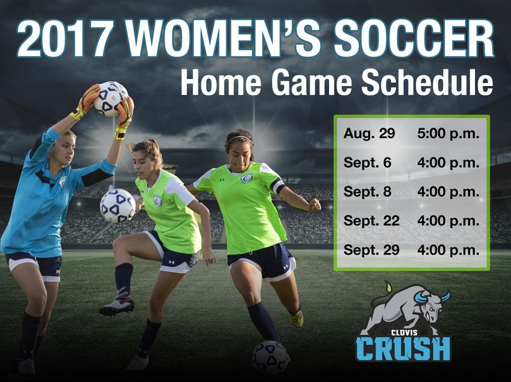 Come support our Clovis Crush Women's Soccer Team at the first HOME game on Tuesday, August 29, at 5 p.m. at the CCC soccer field.  They are playing Sierra College. Learn more about Crush Soccer sponsorship opportunities at http://gocloviscrush.com/give/Give_to_Soccer  #ClovisCrush #Soccer