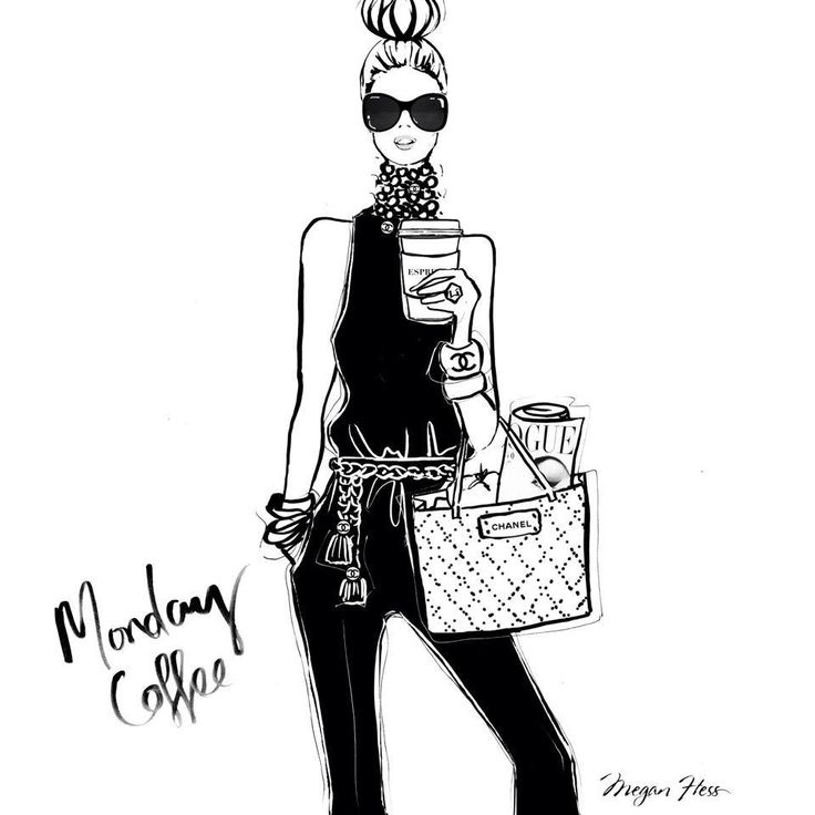 Two words: 1.Double 2. Espresso / Megan Hess Illustration #monday #coffee