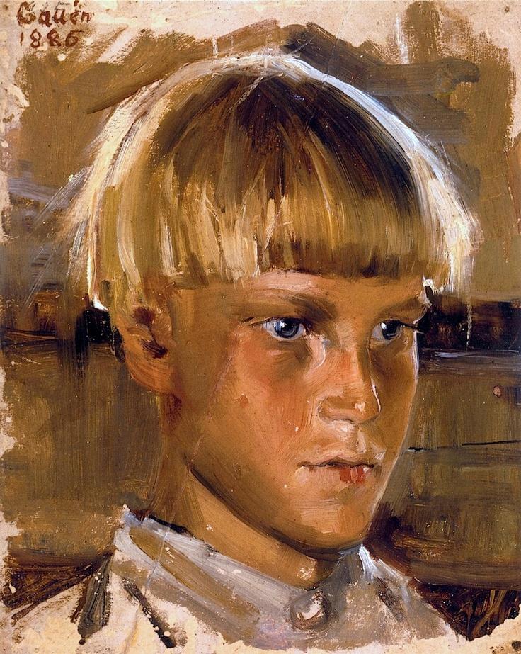 Akseli Gallen-Kallela, | 1865-1931-Orphan Boy 1886