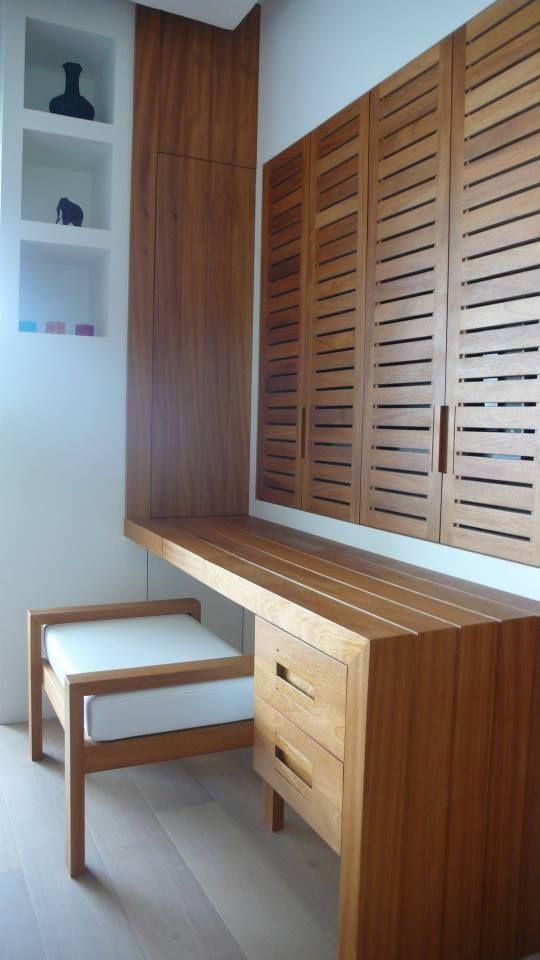 Bedroom Iroko Dar Bouazza Morocco - Design Daniel Schietse