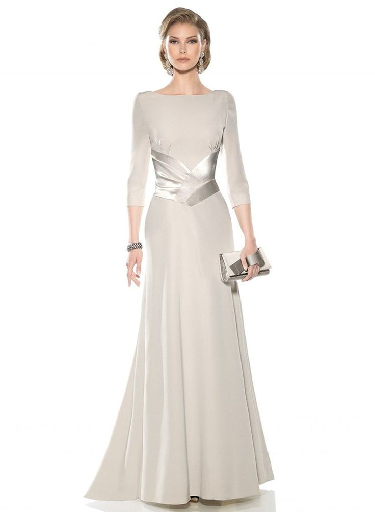 Kelaixiang Light Grey Long Mother Dress for Evening Formal Party -- Check this awesome image : Mother of the Bride
