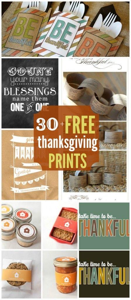 30+ Thanksgiving Printables