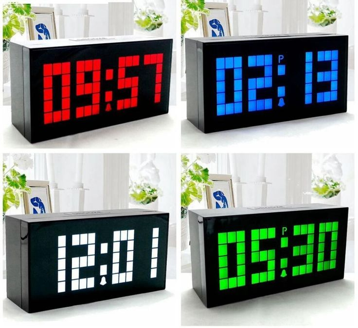 new modern design led digital wall clock table desk alarm clock thermometer date timer countdown