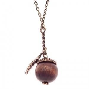 Autumny acorn necklace