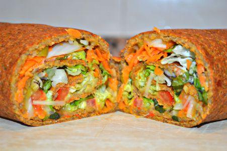 Wrap vegetal de masa de lentejas en HazteVegetariano.com
