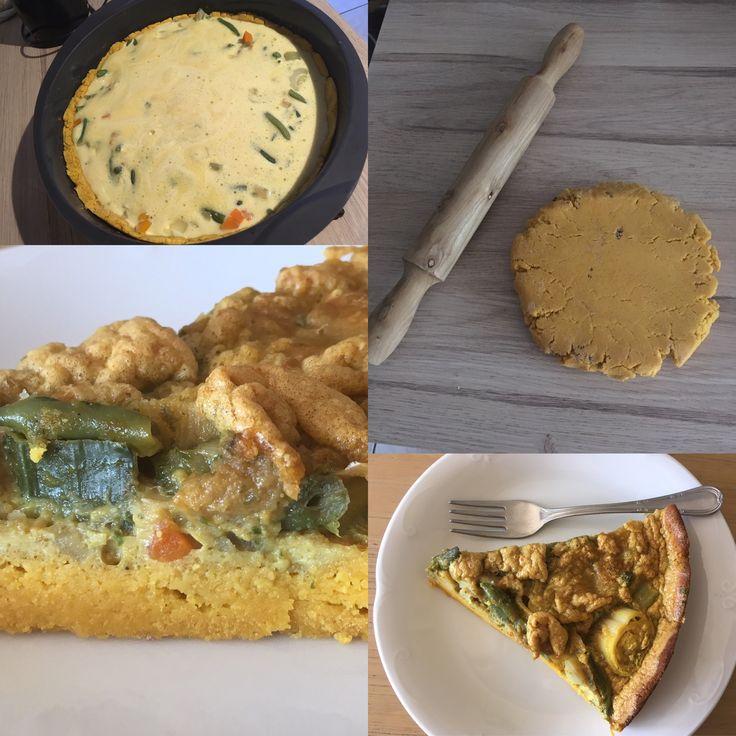 tarte aux l 233 gumes sans gluten recette pour la p 226 te 250g de farine lupin 130g eau