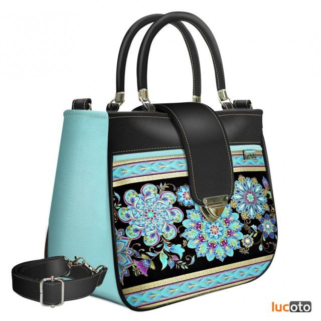 Tootsi One Spir-stripe black and turquoise