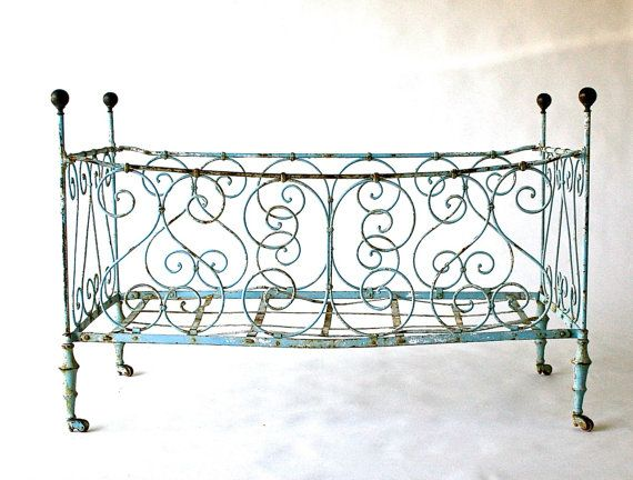 French Antique Baby Crib -- 1800's
