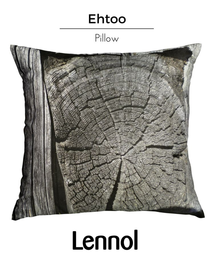 Ehtoo is Finnish for evening in the Ostrobothnian dialect. The Ehtoo cushion depicts a natural and calming, digitally-printed photograph of an aged log, being used as part of a traditional wooden hut. This decorative cushion has a zip to remove the cover for cleaning, and includes the inner cushion with polyester filling. Photograph taken at Bergö Island, Western Finland, by Finnish designer Tarja Suvisalmi.