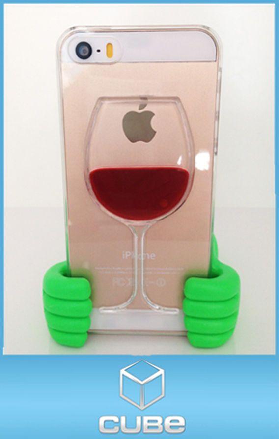 Funda Copa de Vino 3D Original Liquida Agua para iPhone 4 / 5 / 6 / 6 Plus!