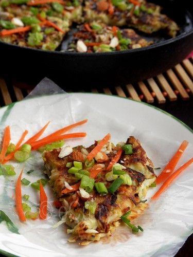 "Okonomiyaki aka ""Japanese Pizza"" or maybe pancakes"