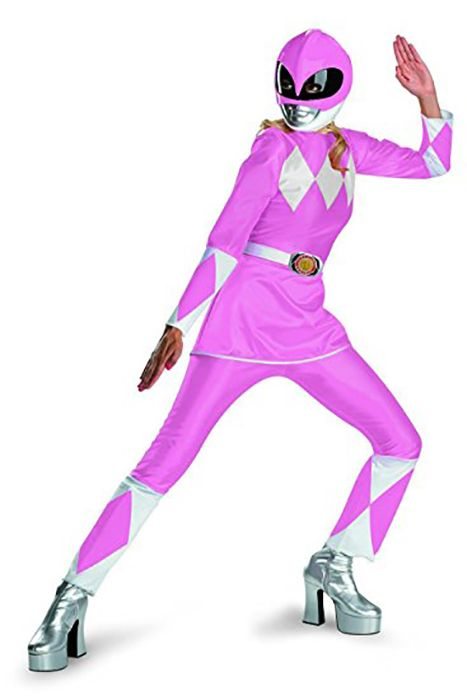 Power Ranger: We wouldn't blame you if you opted for more sensible shoes than silver platform heels while wearing this costume. You would get so much more world-saving done in sneakers, no? Click through for more superhero Halloween costumes you'll love.