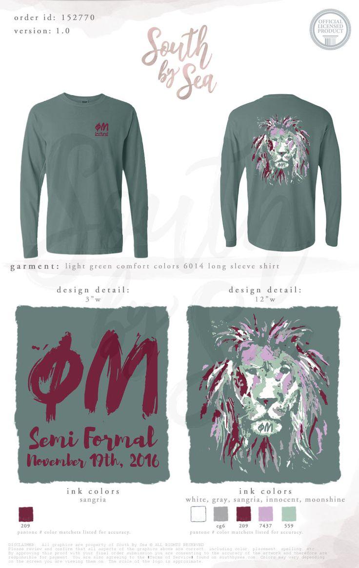 Phi Mu | Semi Formal | Lion Design | South by Sea | Greek Tee Shirts | Greek Tank Tops | Custom Apparel Design | Custom Greek Apparel | Sorority Tee Shirts | Sorority Tanks | Sorority Shirt Designs