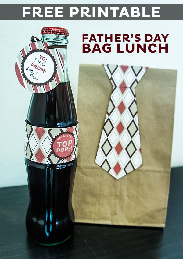 FATHER'S DAY BAG LUNCH WITH FREE PRINTABLE