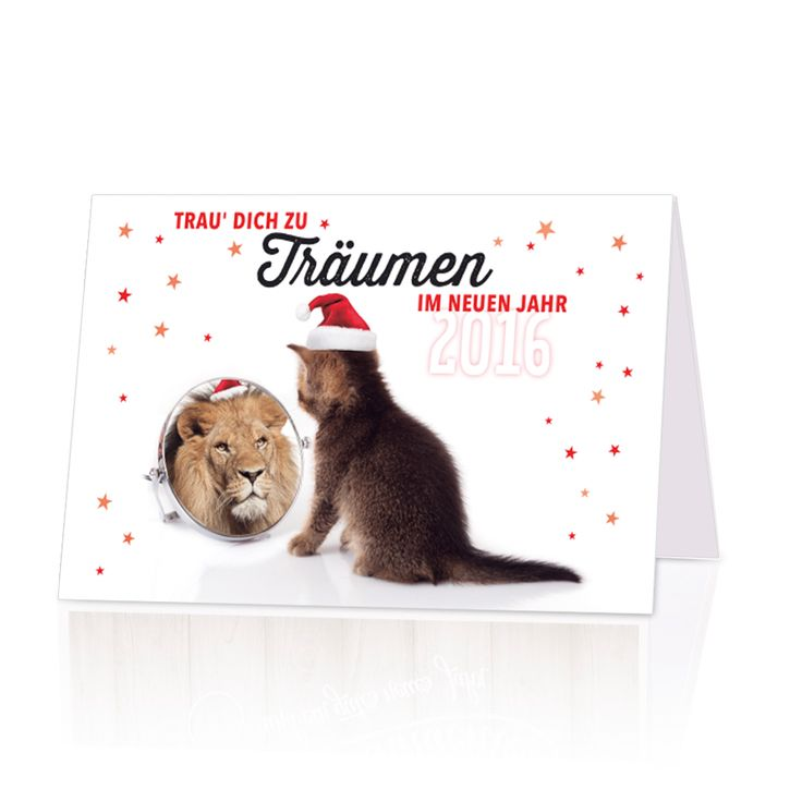 "Lustige Neujahrskarten ""Katze"""