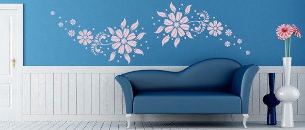 Květena pár (1252) / Samolepky na zeď, stěnu a nábytek