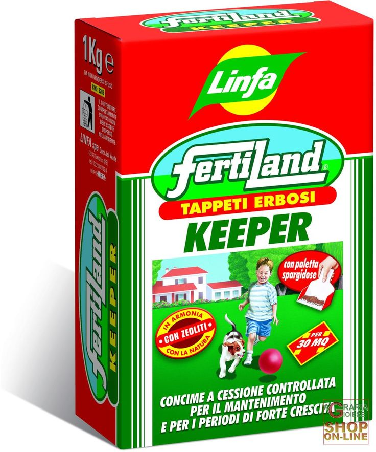 LINFA FERTILAND CONCIME PER TAPPETI ERBOSI KEEPER KG. 1 https://www.chiaradecaria.it/it/fertilizzanti/10089-linfa-fertiland-concime-per-tappeti-erbosi-keeper-kg-1-8014815003318.html