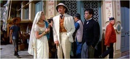Cantinflas (Passepartout); David Niven (Phileas Fogg); Shirley MacLaine (Princess Aouda); Robert Newton (Mr. Fix)