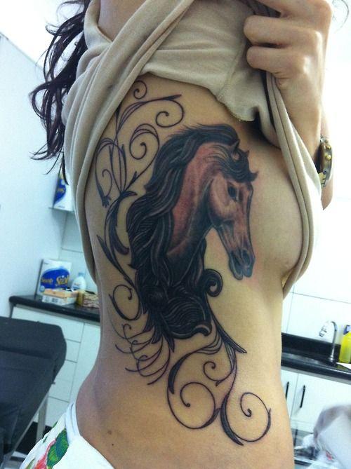 Horse tattoo- very pretty! <3