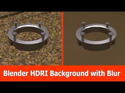 (2) Blender HDRI Background Tutorial - YouTube