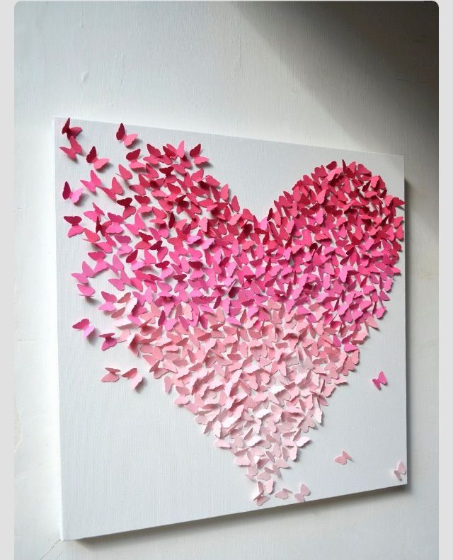 Creative heart DIY. Use origami paper!!