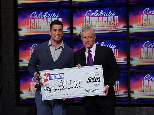Aaron Rodgers Wins $50,000 for Midwest Athletes Against Childhood Cancer with Celebrity 'Jeopardy!' VICTORY
