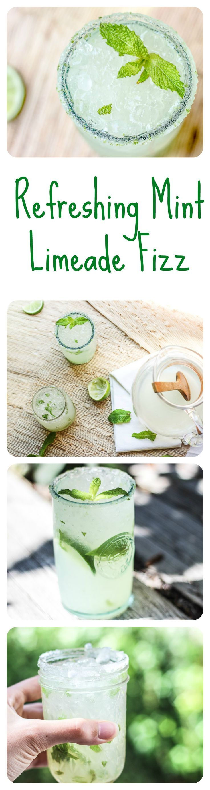 This delicious mint limeade fizz is refreshing, citrusy, bubbly, and most definitely the drink of the summer!