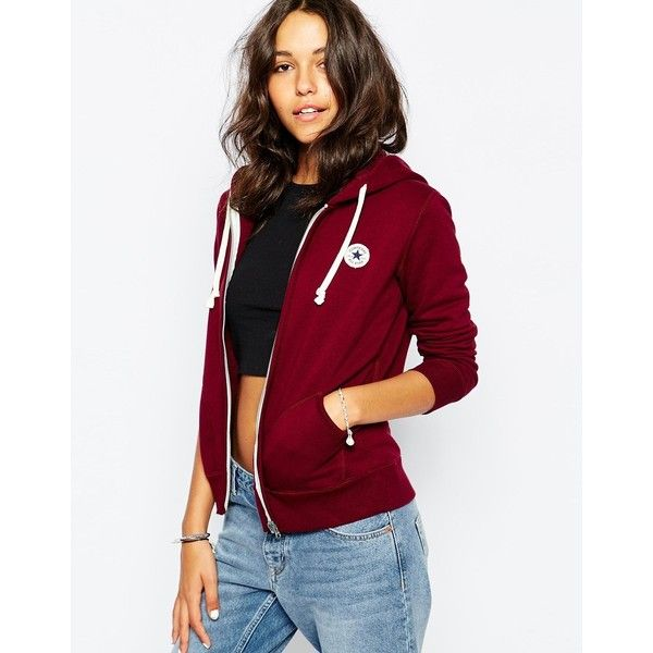 Converse Zip Up Hoodie With Small Front Logo Tracksuit (660 NOK) ❤ liked on Polyvore featuring tops, hoodies, red, zip hoodie, hooded sweatshirt, white sweatshirt, zip up sweatshirt y zip up hoodies