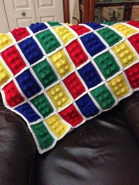 Crochet Lego Blanket Free Pattern