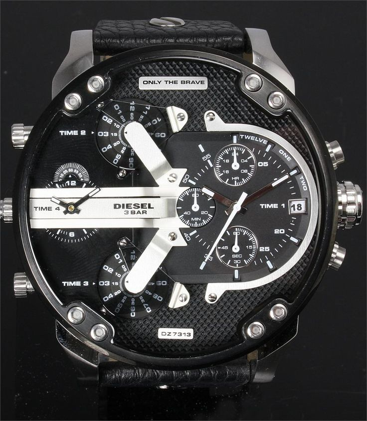 Diesel dz7313 mr daddy free worlwide shipping from for Watchismo
