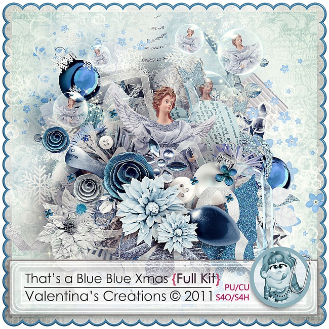 That's a Blue Blue Xmas {Kit} by Valentina's Creations