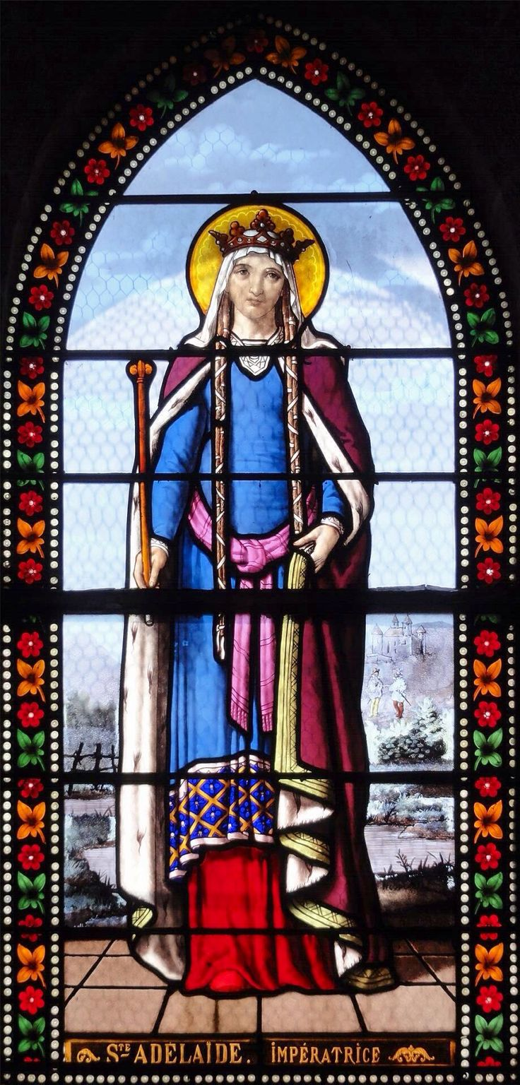 Franklin art glass studios inc clear cotswold glass 3 320 - Sant Adelaide Imperatrice Vetrata Della Chiesa Di Saint Denis A Toury Adelaide Of Italy See More Window By Chippaway Art Glass