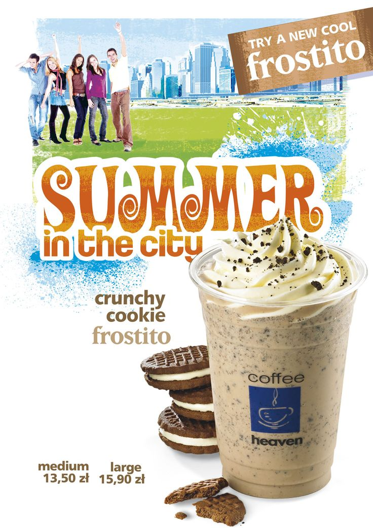 #coffeeheaven #summerdrinks #summerinthecity #artposter #frozencoffee #frostito