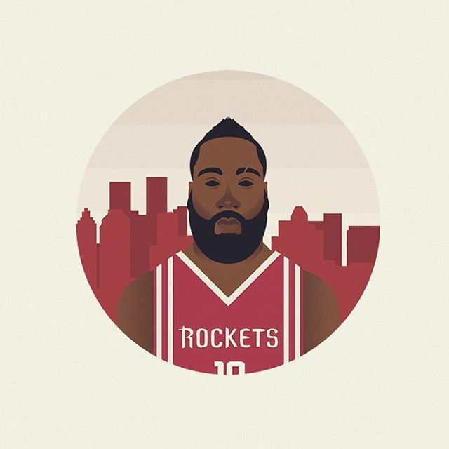NBA serie  4/4  #nba #harden #jamesharden #beard #fearthebeard #instaart #picame #thedesigntip #instagood #vector #vectorart #illustration #illustrator #art #artwork #rockets #flat #flatdesign #bestvector #graphicdesign #graphic #diseñografico #portrait #barcelona