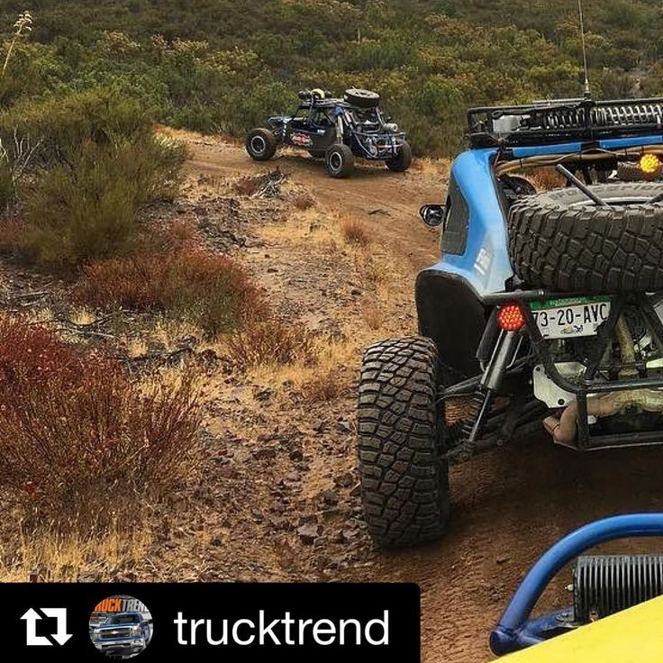 New tire alert! Is this the all-new @bfgoodrichtires KM3 Mud-Terrain? Looks like one of the current race tires but with extra grooves. Just fishy that @trucktrend is in a buggy in Mexico, right? Plus it's about time for a new BFG M-T! #bfgoodrichtires #km3 #mudterrain