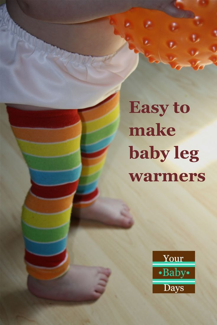 {Dollar Store Crafts} DIY | Your•Baby•Days baby leg warmers from dollar store socks