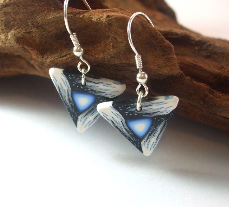 Galaxy triangle Earrings $45