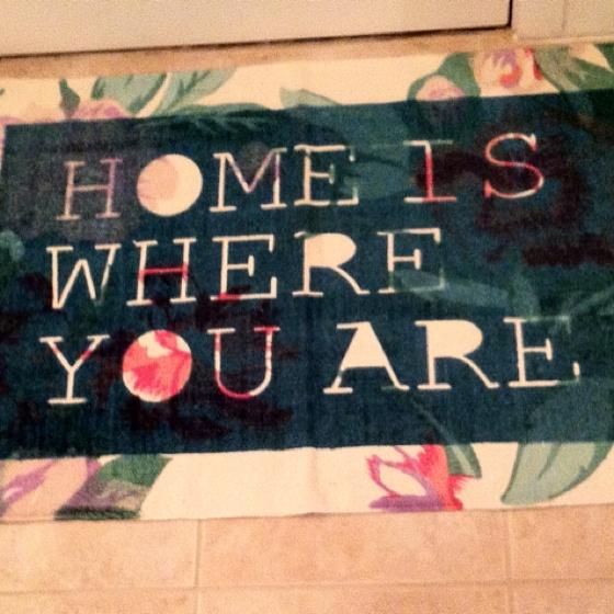 super cute welcome mat :))