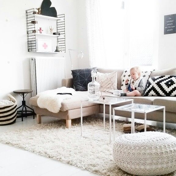 Living room. Bright, nordic and scandinavian.