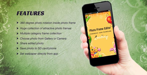 "Purchase the source code of ""Photo Frame Editor"" for Android only in $17"