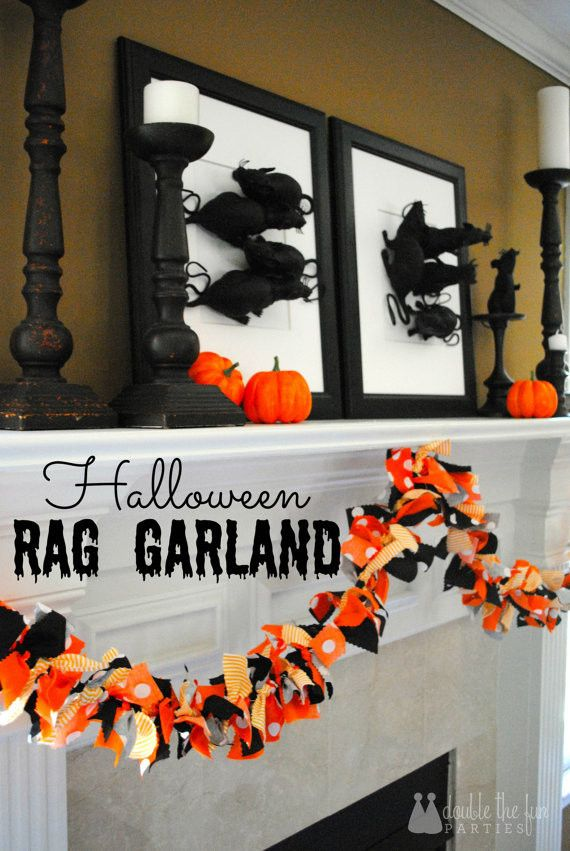 Halloween Fabric Tie Garland