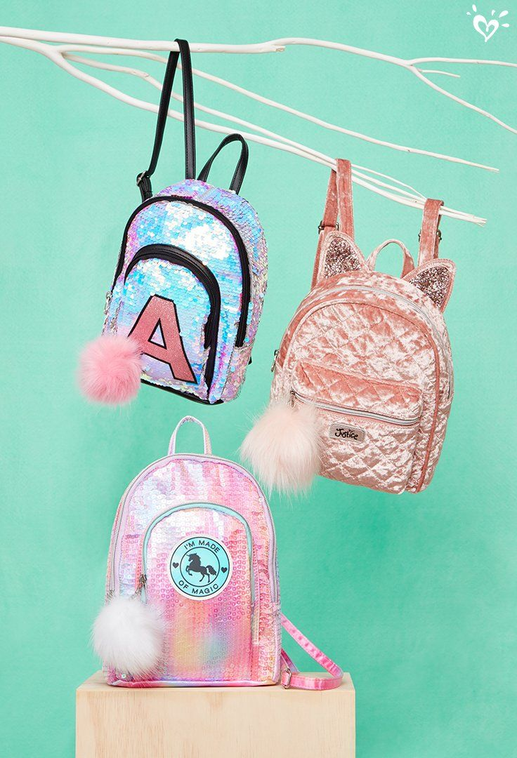 On her wish list: Mini backpacks decorated with pompoms and lots of sparkle.